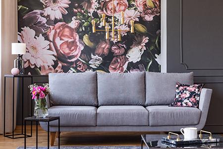 Wallpaper for living room - Wandsworth Sash Windows